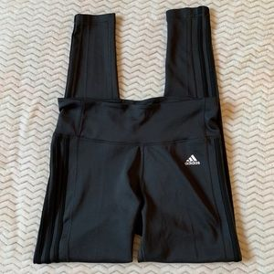 ADIDAS Climalite Gray/black Activewear Leggings L